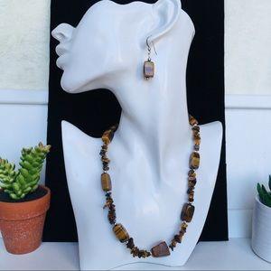 Jewelry - NWOT Handmade Genuine Tigers Eye Necklace